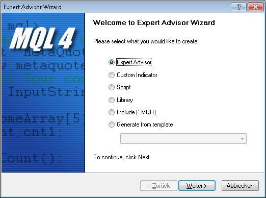 Expert Advisor für MT4 erstellen