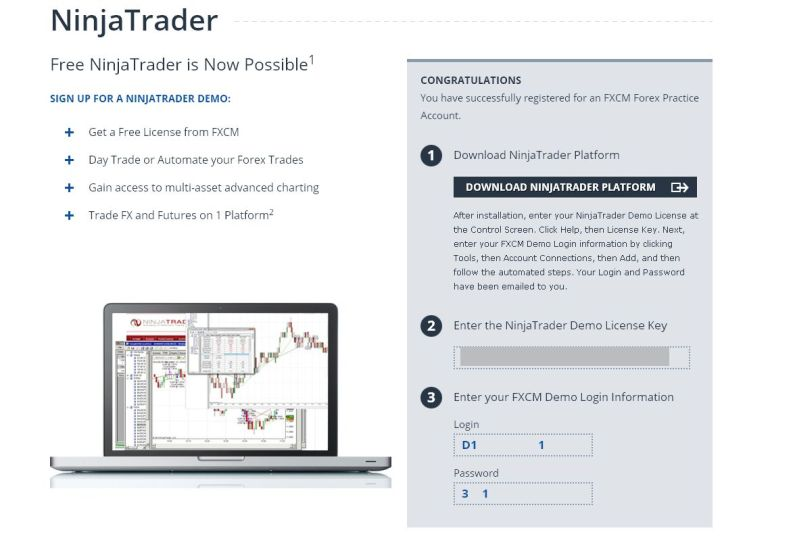 Ninjatrader forex demo account